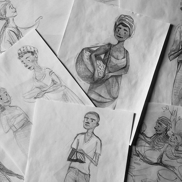 Character studies by talented #optimusdesign artist @sunpaku for one of our recent projects. See the link in bio for more! #sketch #pencilsketch #cel #animation