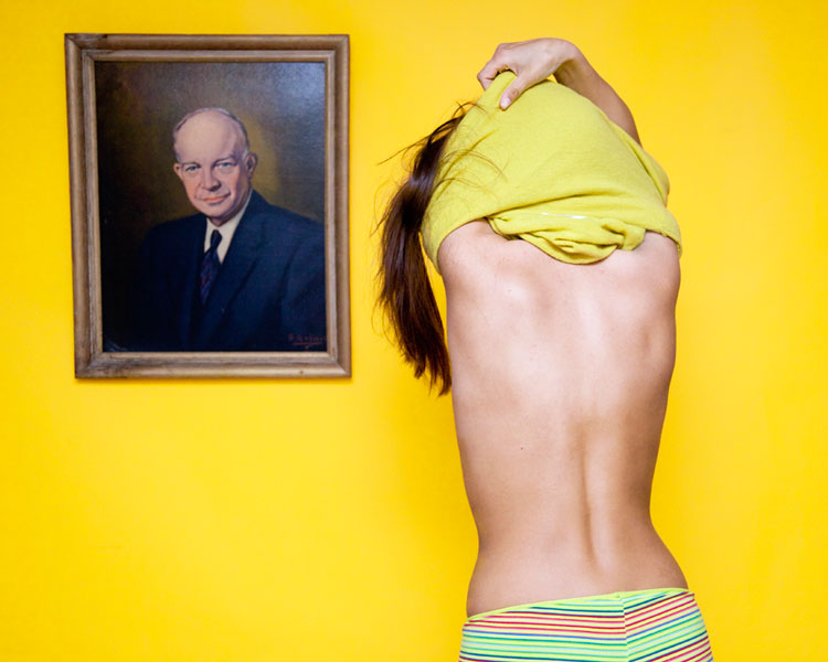 """In Ohio it's illegal to disrobe in front of a man's portrait."" Photo © Olivia Locher."