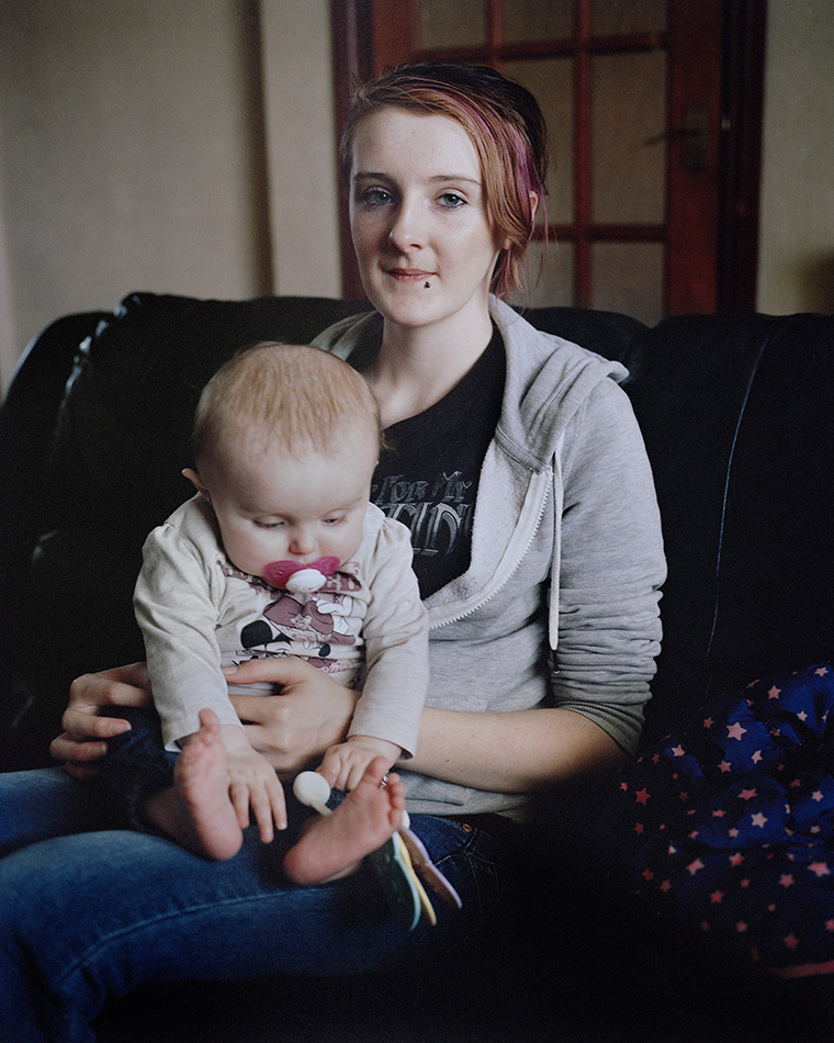 Beth (16) and Amy-Lee (6 months), Cardiff, UK, 2014