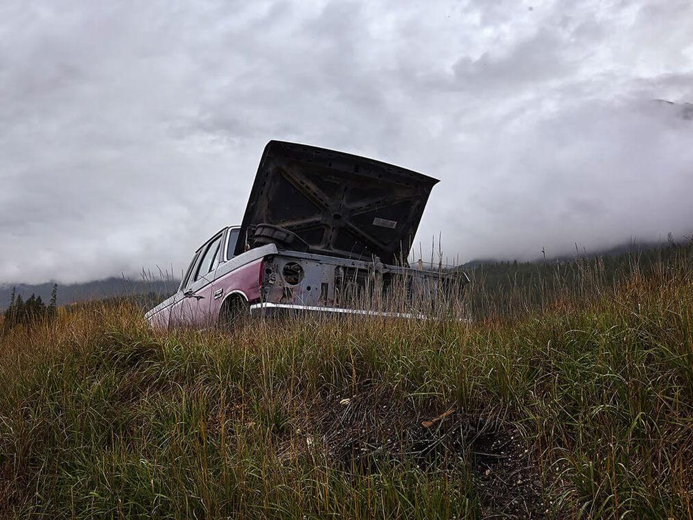 Rusty car. Golden, BC