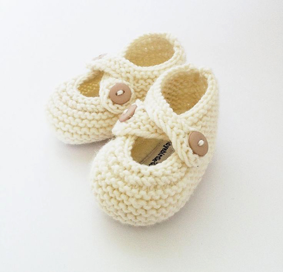 knitted baby booties by Bye Bye Birdie