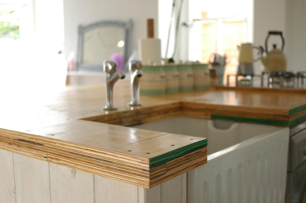 Diy kitchen island worktop patchwork harmony for Cheap kitchen ideas uk