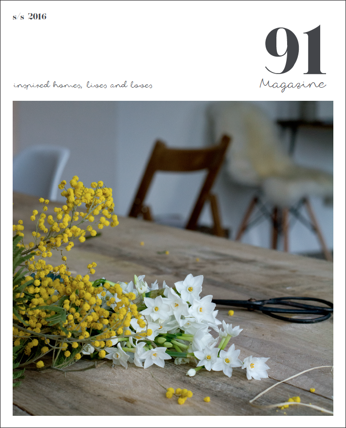Purchase the S/S 2016 issue of 91 Magazine here