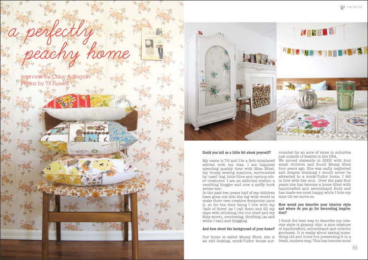 home tour with Tif Fussell - spread from issue 2