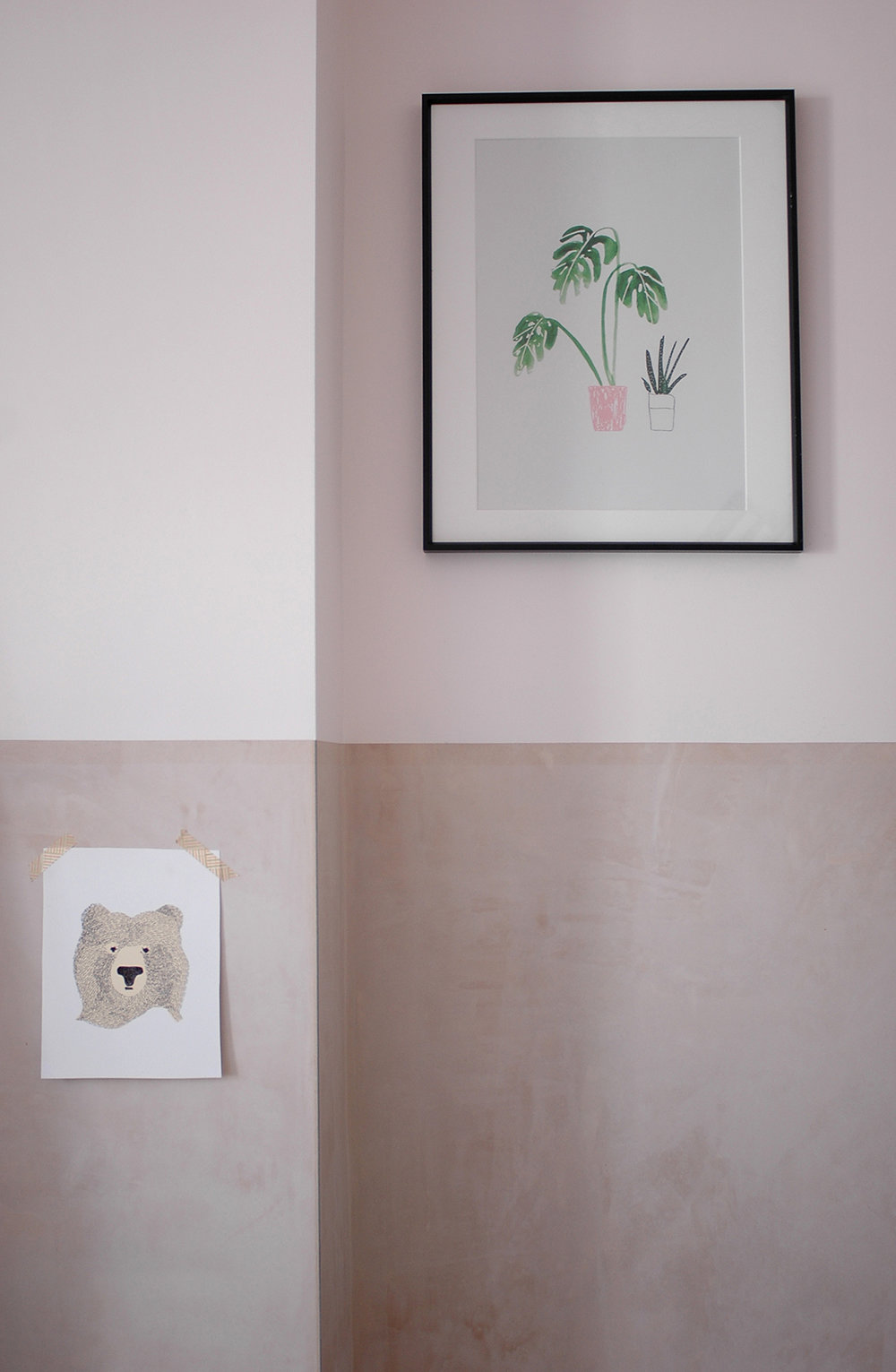 Monstera print : The Lovely Drawer /  Bear print : Seventy Tree