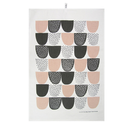 Sokeri pink tea towel , £15