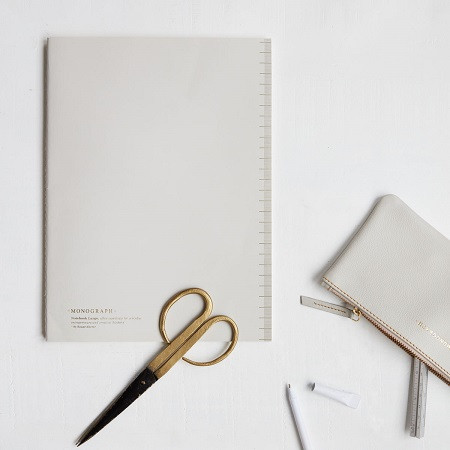 Notebook in soft grey , £5