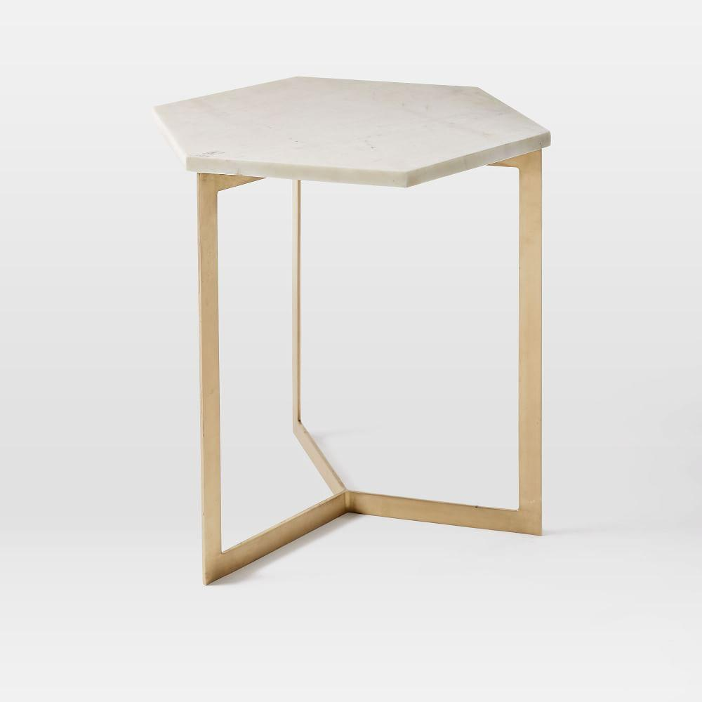 Hex side table, £159 - West Elm