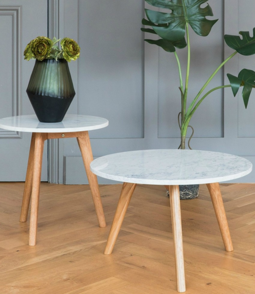 Stunning White stone coffee table from Rose and Grey