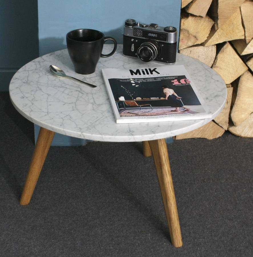 Scandinavian style white stone table, £150 - Not on the High Street