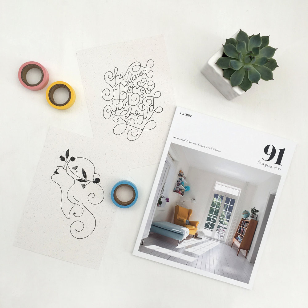 the brand new S/S 2017 issue & Karolin Schnoor exclusive screen prints