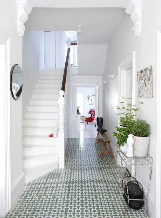 Plans for a bright and airy hallway