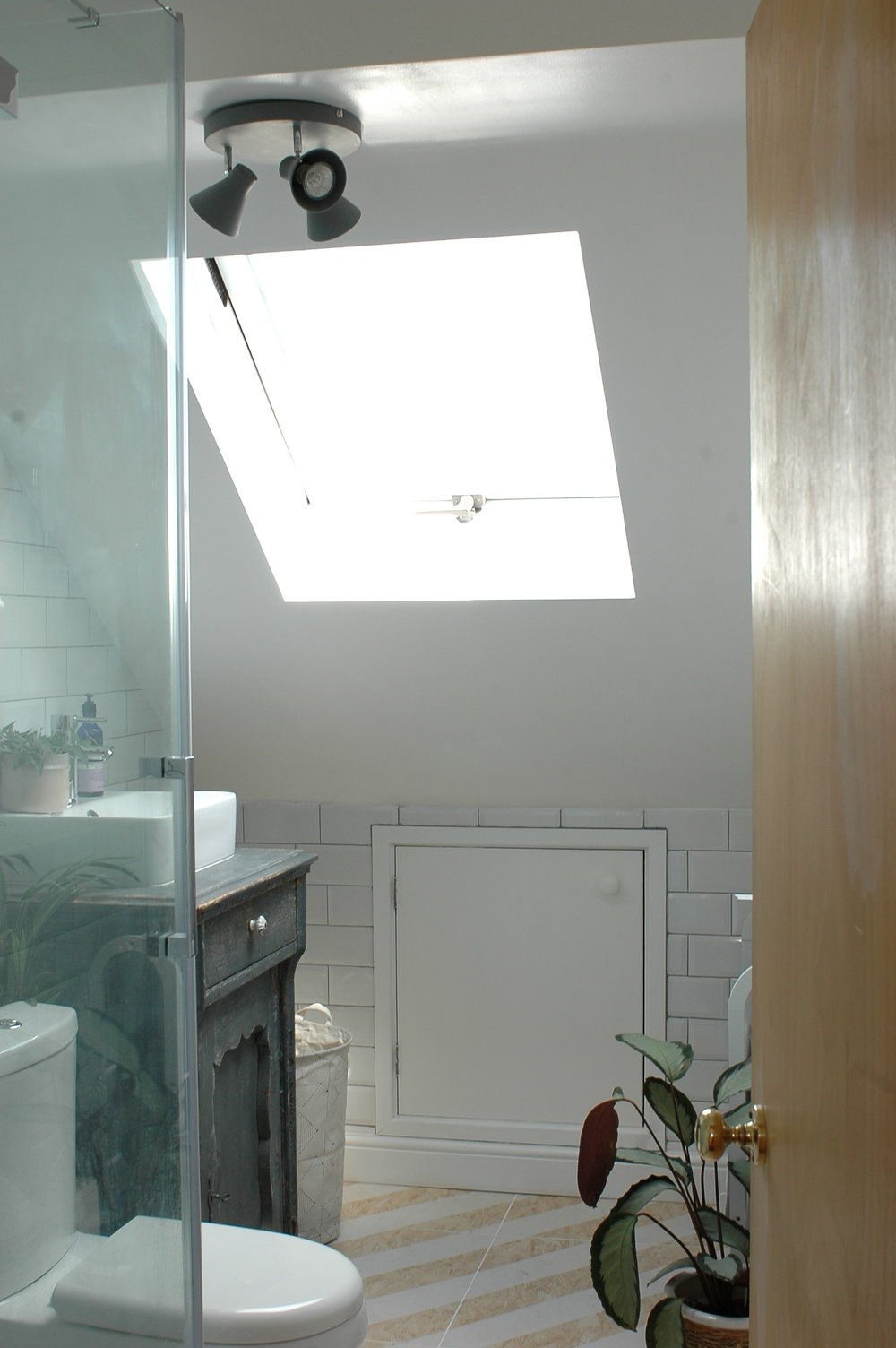 An en-suite bathroom in the loft conversion