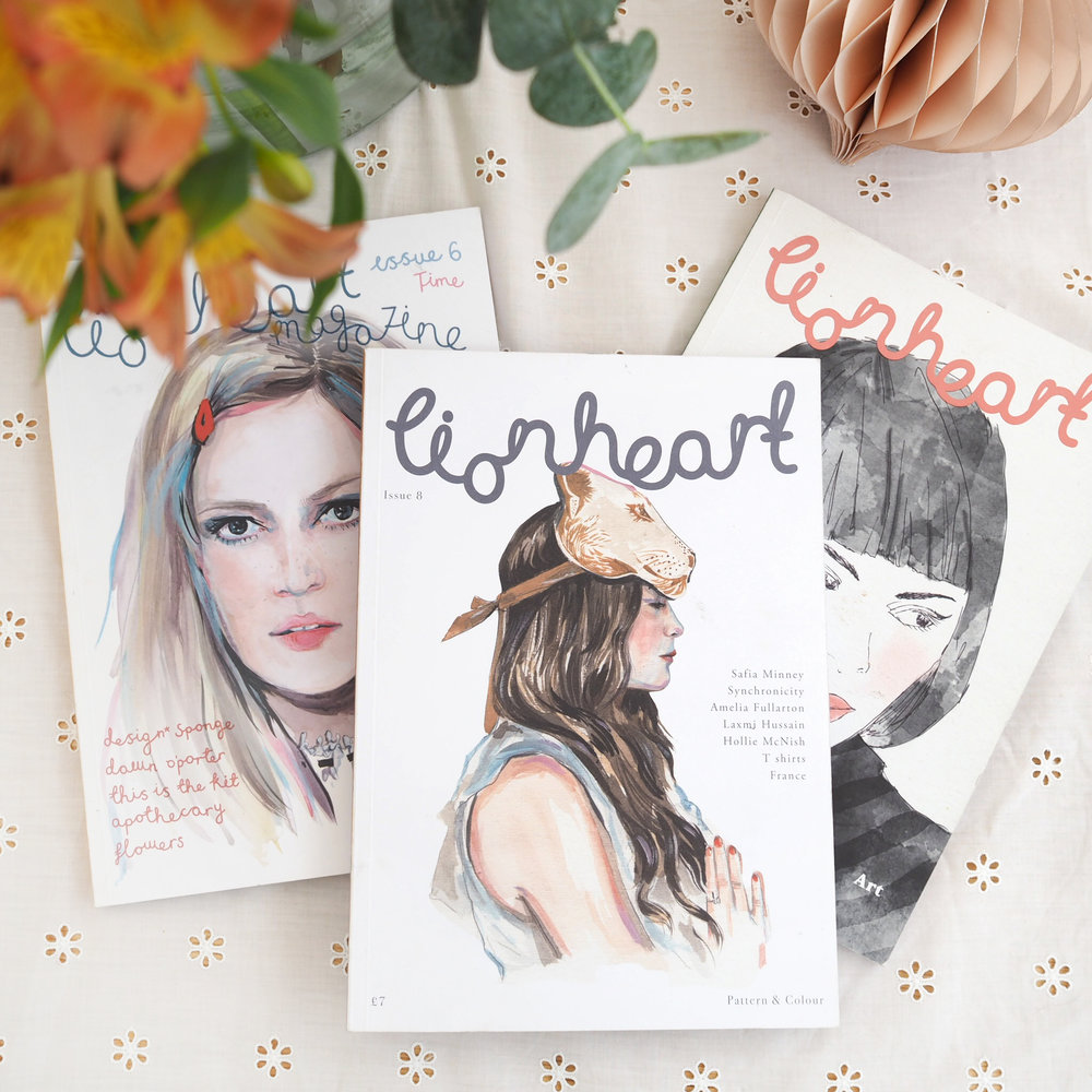 the last three issues of Lionheart. Photo: Caroline Rowland