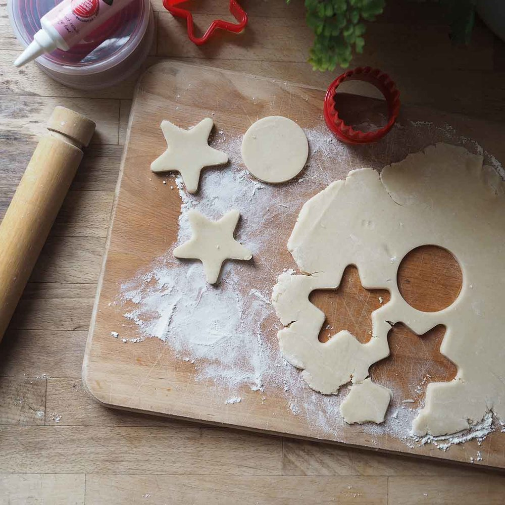 baking biscuits for santa