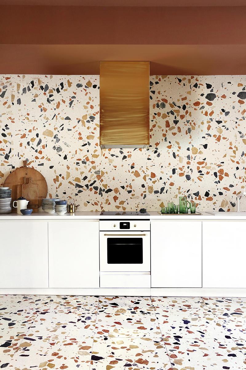 Terrazzo kitchen via  Dzek