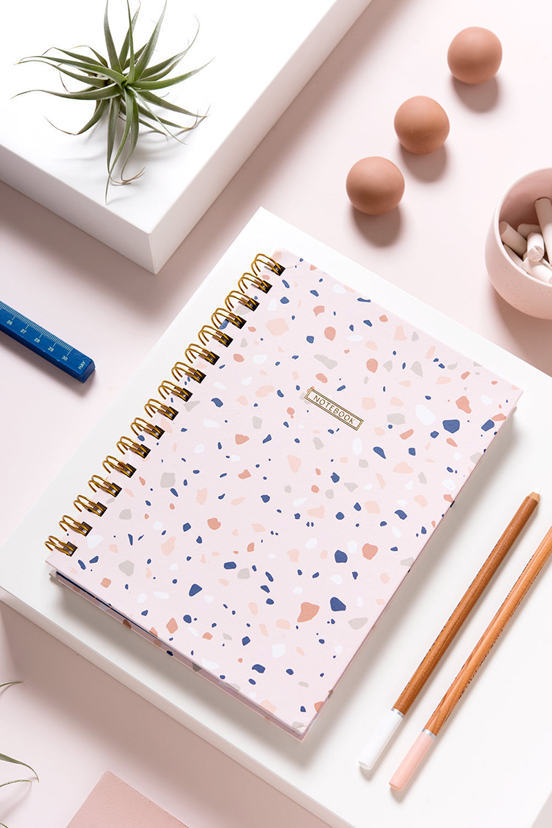 Terrazzo pattern notebook - Micush on Etsy