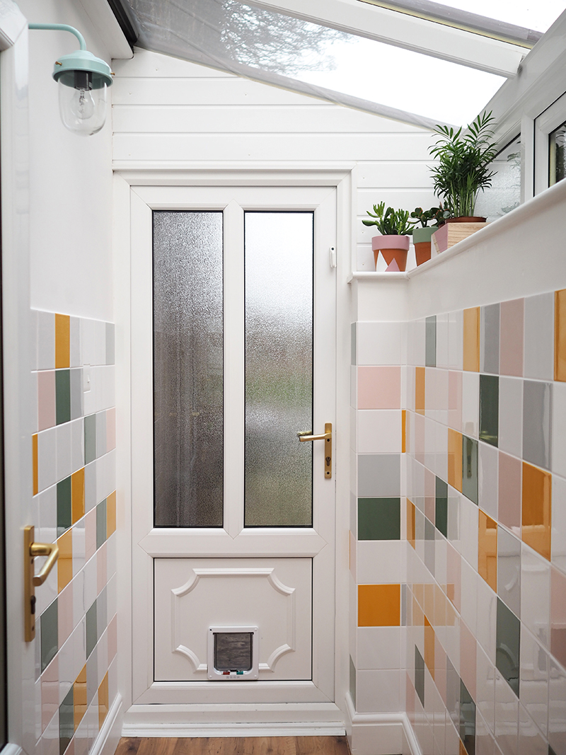 tiled porch makeover