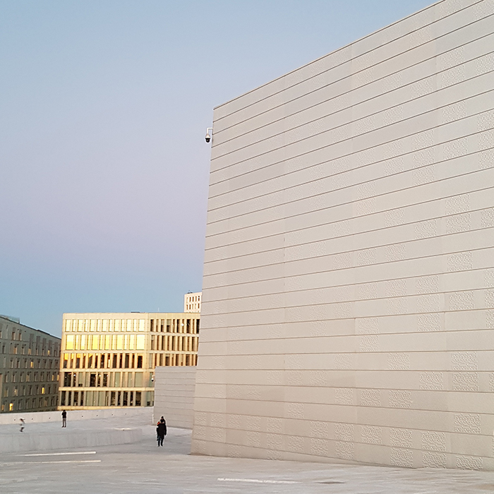 On the roof of Oslo Opera House