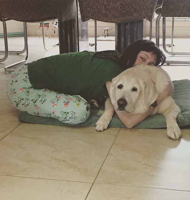 Casey Doodle and me! 15 years old and still cuddling. A geriatric yellow lab with the heart of a puppy. I luh you Casey #puppylove #miami #friendsforlife #dogs #pups