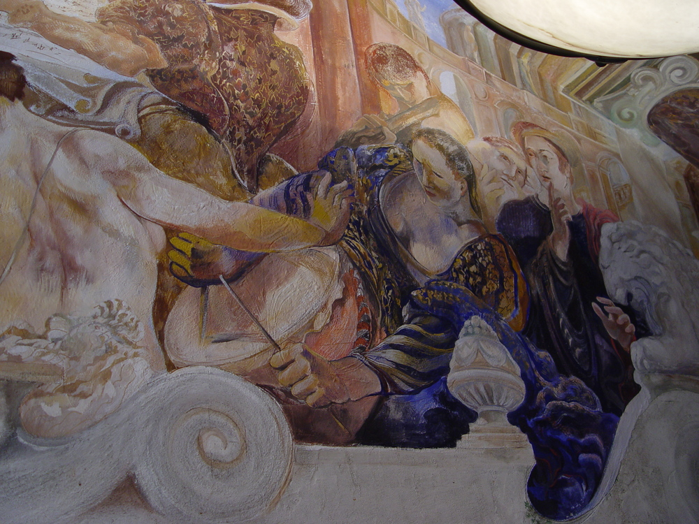 Orchestra, true fresco (detail)