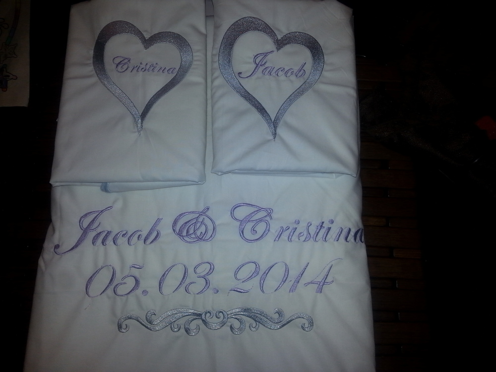 Personalized Sheet Set.    Perfect for wedding gift.