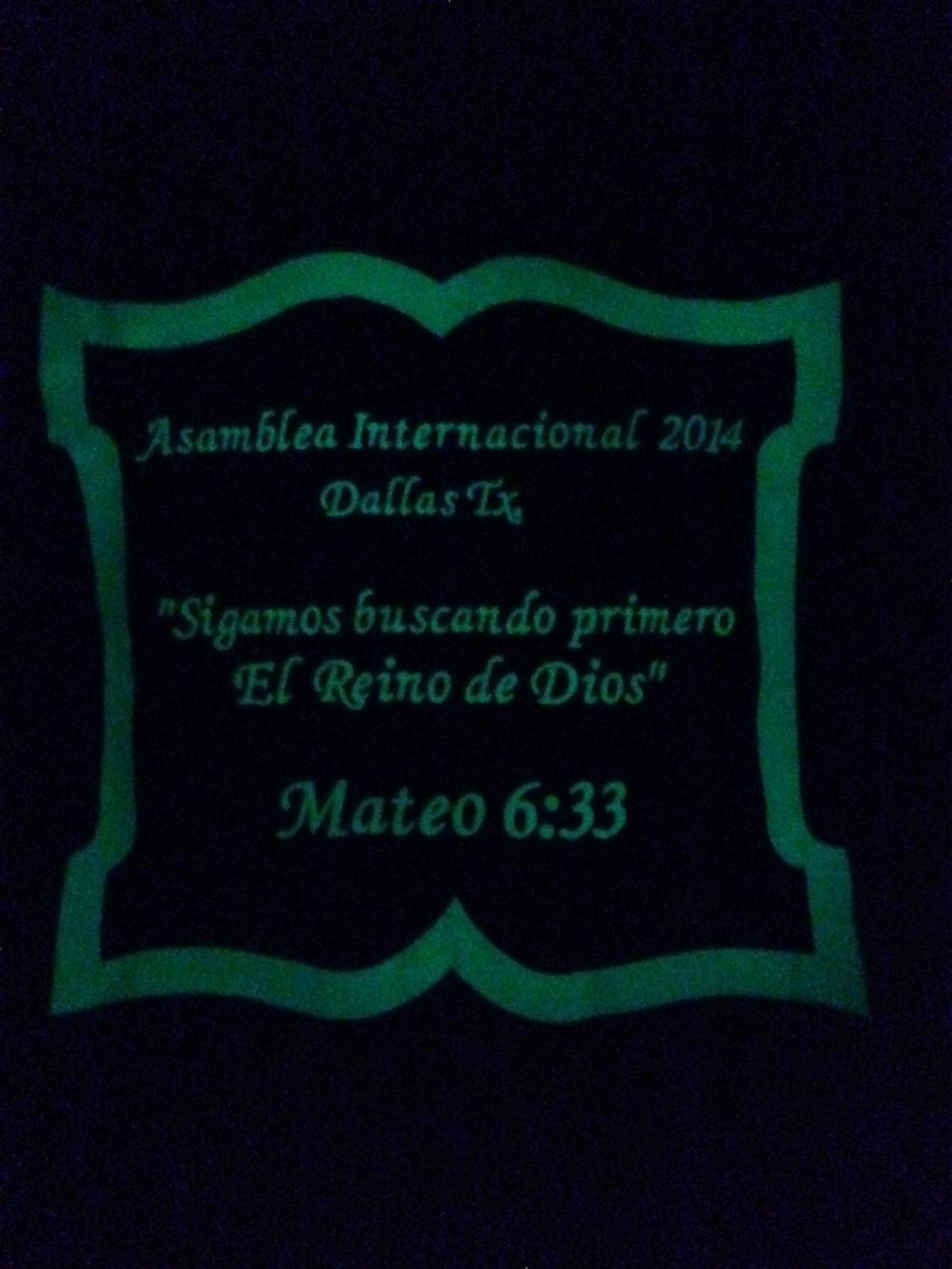 Bible Deco pillow glow on the dark.