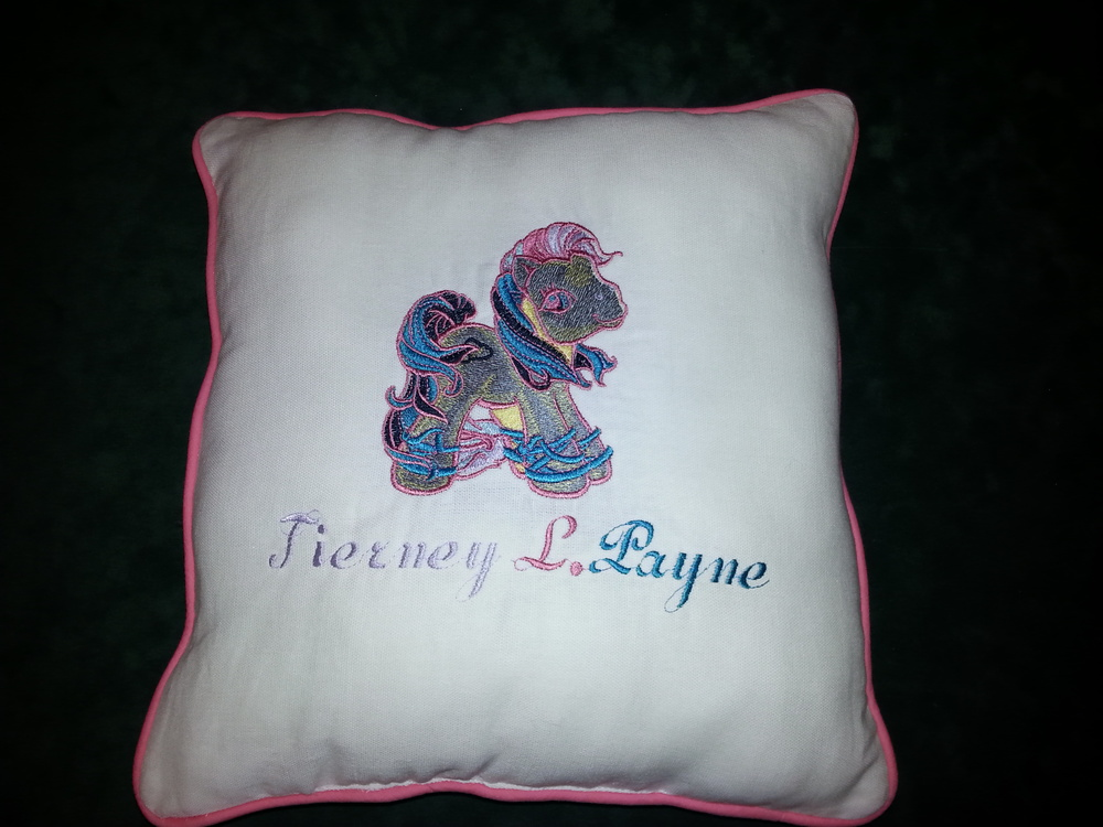 New Rainbow horse pillow.