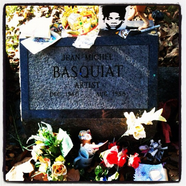In addition to locating Louis Comfort Tiffany's final resting place I also located Jean Michelle Basquiat