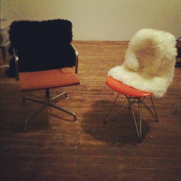 Mid Century modern chairs in my new studio (Taken with  Instagram )