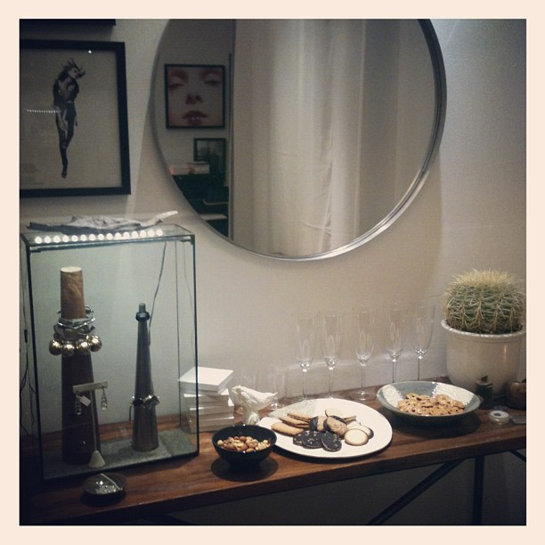 I'm ready drop by the studio for drinks and jewelry (Taken with  instagram )