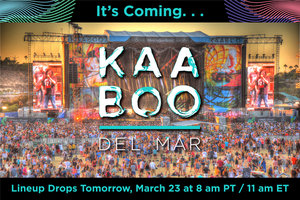 It's Coming... KAABOO Lineup Drops Tomorrow