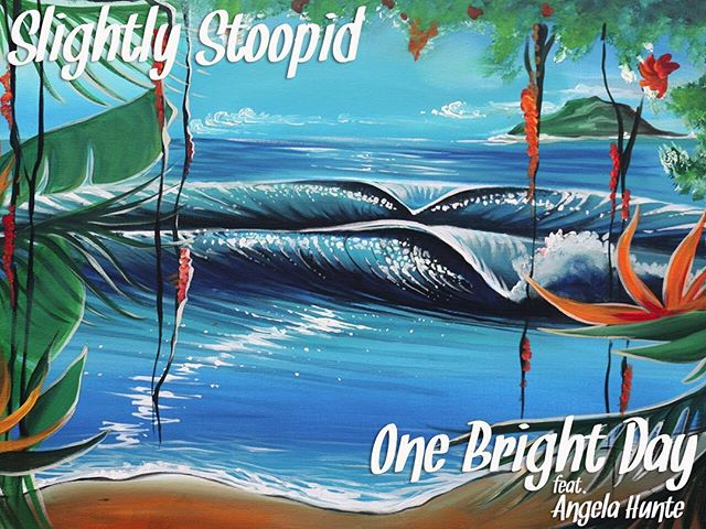 "Slightly Stoopid announce the release of a new animated video for the song ""One Bright Day"" featuring singer/songwriter Angela Hunte, off of their most current album release, Meanwhile … Back at the Lab. The video is comprised of animated stills procured from large canvas paintings donated by Hawaii-based artist and aspiring pro-surfer Danielle Zirk. Original art from the video will be auctioned, with proceeds donated to Global BrightLight Foundation."