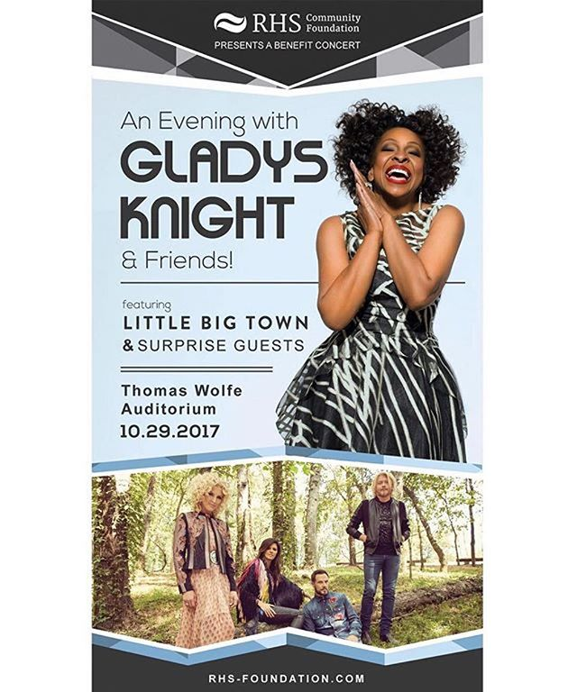 VIP and General Admission tickets are ON SALE NOW for An Evening with Gladys Knight and Friends featuring Gladys Knight, Little Big Town, LYRIC, and more! Every ticket purchased goes to benefit the RHS Community Foundation's effort to renovate the abandoned Reynolds HS in Canton, NC. - #littlebigtown #gladysknight #lyric