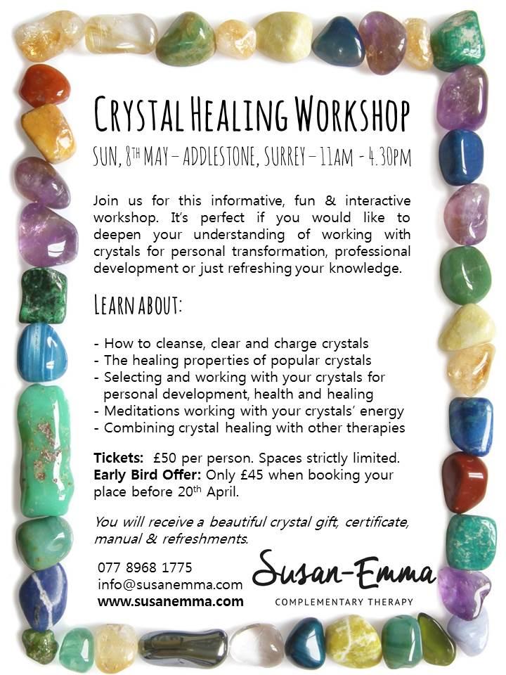 crystal healing workshop surrey www.susanemma.com