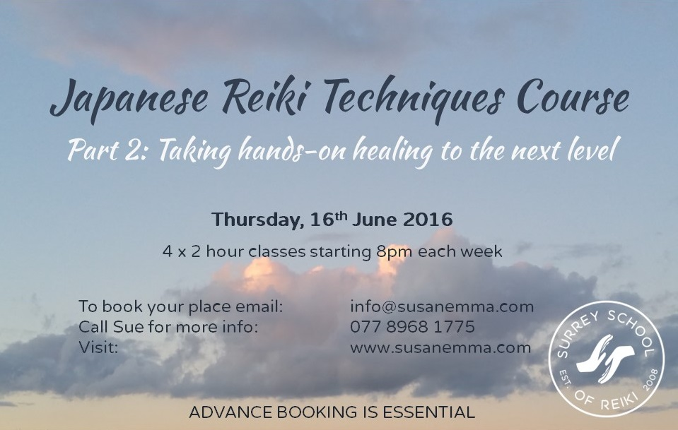 www.surreyschoolofreiki.com Japanese Reiki Level 2