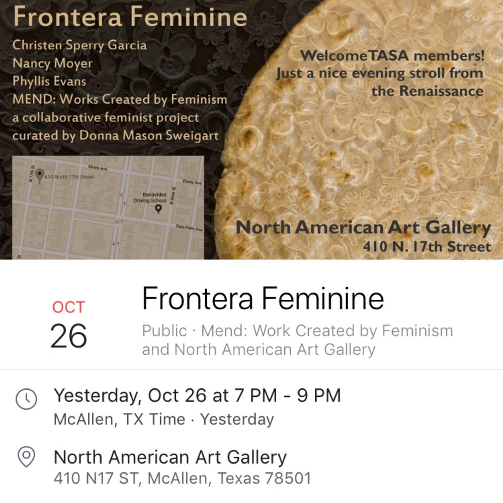 Mend: Works Created by Feminism - a collaborative feminist project curated by Donna Mason Sweigart