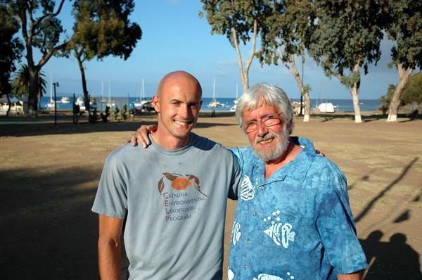 Adam with Jean-Michel Cousteau on Santa Catalina Island in 2007