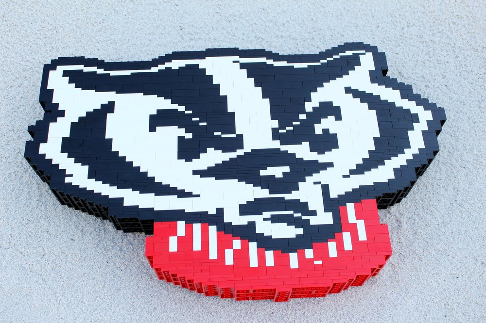 "Buckingham U. ""Bucky"" Badger LEGO Logo"