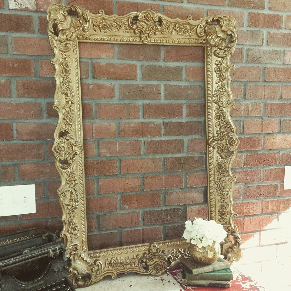 extra large gold frame savannah vintage and antique furniture rentals in savannah georgia