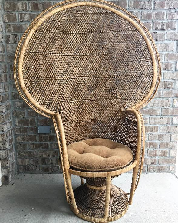 Cushioned Peacock Chair