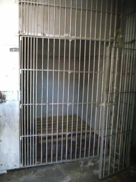 The original jail cell at the Station House.