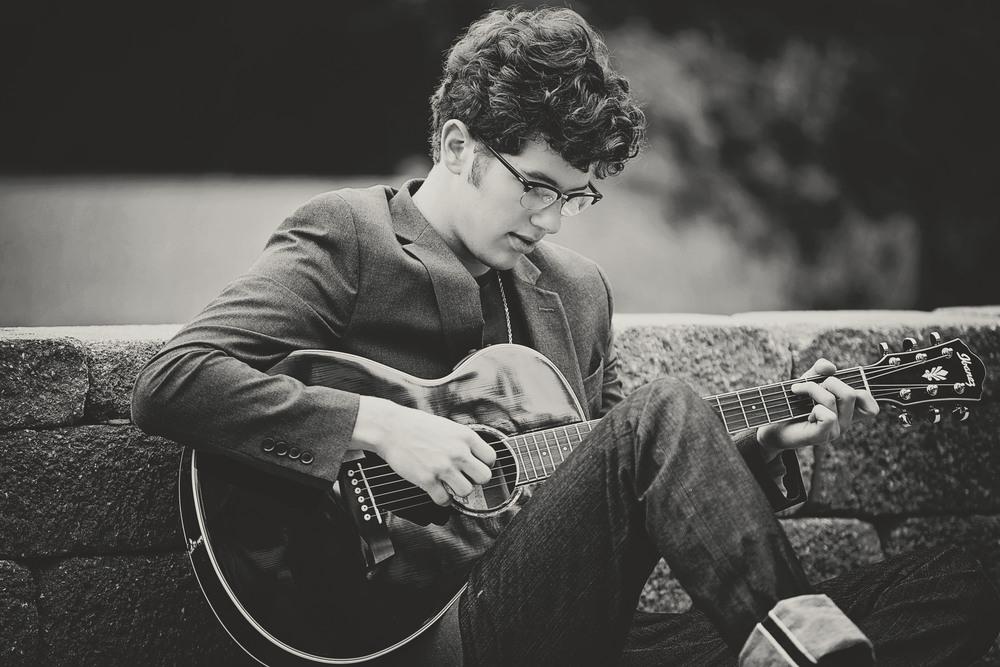 Senior boy photos | guitar player