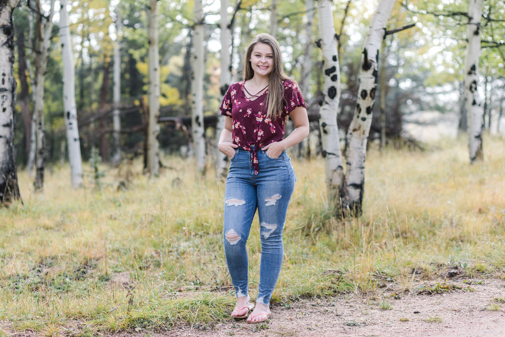 Aspen tree senior photos divide colorado