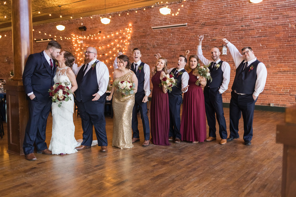 kansas city wedding photographer bridal party celebration