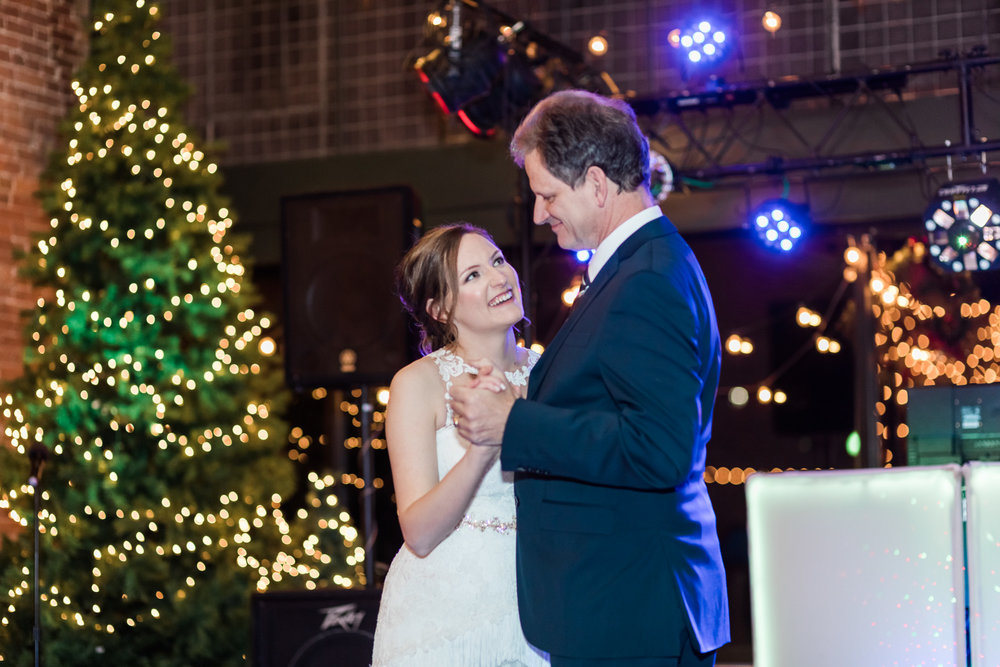 Kansas City wedding photographer reception father daughter dance photo