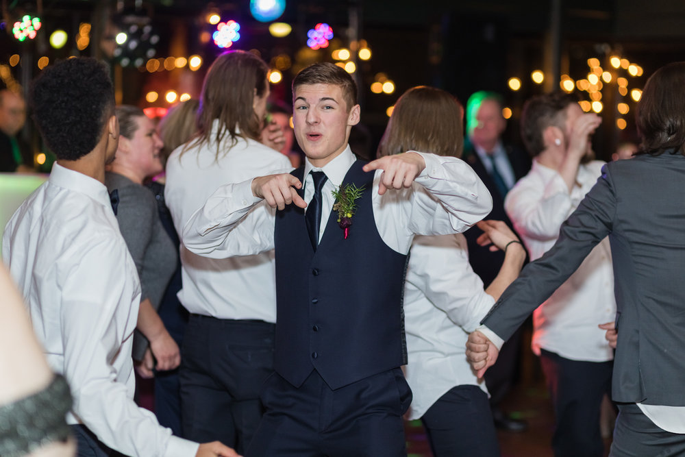 Kansas City wedding photographer reception dance photo