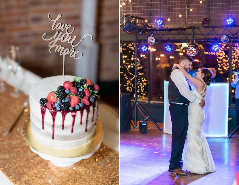 Kansas City wedding photographer and cake