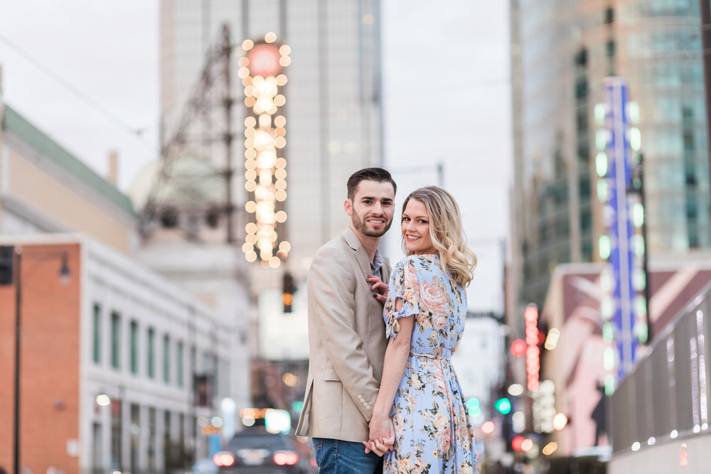 Downtown Kansas City Photographer Main Street Engagement Photos