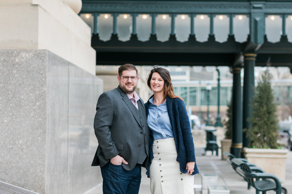 Kansas City Union Station Engagement Photo Session